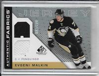 07-08 SP Game Used Evgeni Malkin Authentic Fabrics Rainbow Dual Jersey #d/100