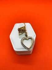 (N12334) 10k Gold Chain With 14k Heart Multi-Diamond Pendant