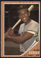1962 Topps #40 Orlando Cepeda VG-VGEX San Francisco Giants FREE SHIPPING