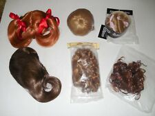 Beautiful Brand New Lot Of 6 Doll Wigs Sz 15-16 All Different Colors & Styles