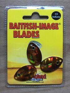 Northland Fishing Tackle - Baitfish-Image® Indiana Blade - Size #4 - Gold Shiner