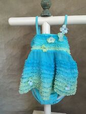 Kate Mack BISCOTTI AQUA BABY SWIM SUIT COVERUP SET To Die For! 4pc 12month