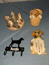 Lot of 6 Beagle Signs Thermometer Pencil Cup Holder Votive Candle Holder Hooks