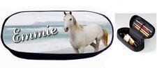 Trousse à crayons Cheval chevaux personnalisée avec prénom