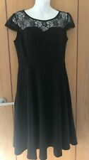 BLACK DRESS WITH LACE, SHORT SLEEVE, SIZE M, BNWOT