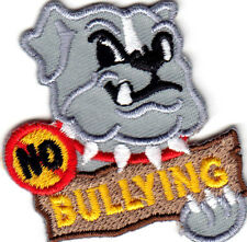 """NO BULLYING"" Iron On Patch Bully"