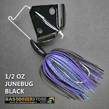 Buzzbait RAPPER 1/2 oz JUNEBUG BLACK buzz bait buzzbaits. KVD trailer hook