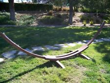 Petra Leisure 14 Ft. Wooden Arc Hammock Stand. 450 LB Capacity. Brown Stain