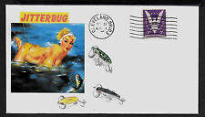 1940s Vintage Fishing Lures & Sexy Lady Featured on Collector's Envelope *A615