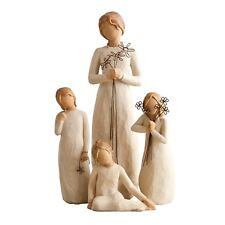 Willow Tree Mother with Three Daughters Figurine Gift Set Family Group