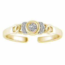 0.06 Ct Diamond Multi-Heart Style Adjustable Women/'s Toe Ring 14k Rose Gold Over