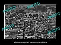 OLD LARGE HISTORIC PHOTO OF BOYERTOWN PENNSYLVANIA AERIAL VIEW OF THE CITY 1940