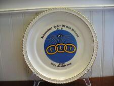 1969 World Wide Art Studios Porcelain Odd Fellows 150th Anniversary Plate