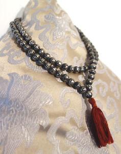 Sehr schöne MALA aus Silber-Beads aus Nepal mit Mantra OM MANE PADME HUM