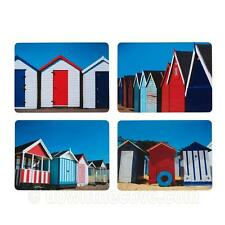 Kitchen Craft Beach Hut Placemats x 4 - Cork Backed Nautical Table Mats - Boxed
