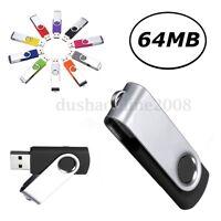 CLE USB 2.0 KEY 64 MB Mémoire Flash Drive U-Disk Stick Thumb Pliable Win 7/10 PC