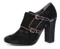 Tory Burch Black Velvet Carley Monk Strap Womens Booties Size 8.5 1190