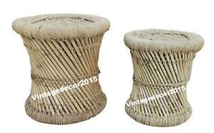Natural Bamboo Cane   Wooden Sitting Stool/Chair for Indoor/Outdoor Furnishings