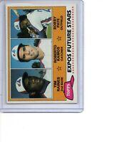 1981 Topps # 479 Tim Raines Rookie Card Montreal Expos HOF SEE SCANS