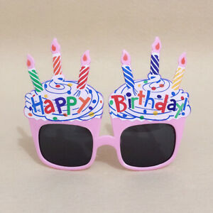 Happy Birthday Glasses Photo Booth Props Festival Party Baby Shower Supplies
