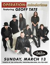 """Geoff Tate """"Operation: Mindcrime"""" 2016 Wichita Concert Tour Poster - Queensryche"""