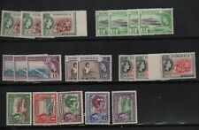 Stamps Dominica selection QE2 and Geo VI pictorials muh and mint hinged