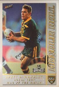 2001 SELECT NRL IMPACT HONOUR ROLL, BRETT KIMMORLEY HR5 - PROMO