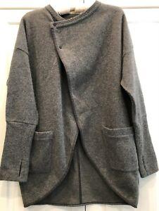 Cole Haan x Mountain Hardwear Studiogrand Gray Wrap Cardigan Sweater Wmn L