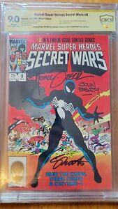 Secret Wars 8 CBCS GL 9.0 SS 1st Spider-man Black Costume Alien Symbiote ALL 3!