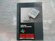 Manuel d'instruction/ Notice Console Super Nintendo Snes original Manual Booklet