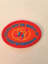 Girl Scouts Into the World of Today and Tomorrow patch - MINT!