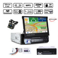 7'' HD Video 12V Bluetooth Car Stereo Radio USB/SD/AUX/EQ/FM 1 Din Touch +Camera