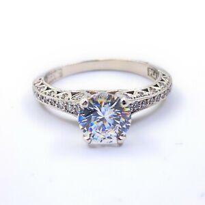 TACORI Reverse Crescent Platinum Semi Mount Engagement Ring