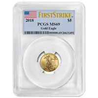 2018 $5 American Gold Eagle 1/10 oz. PCGS MS69 First Strike Label