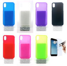 "Case Cover Gel TPU Silicone For iPhone X / XS (4G) 5.8"" + Optional Protector"