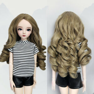 Doll Wigs for 1/3 BJD 60cm Doll Hair Doll Accessory Curly Long Hair DIY Replace