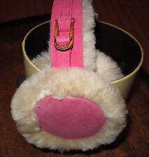 UGG Earmuffs Shearling Double U Bright Pink NEW