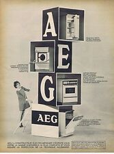 Publicité Advertising 016 1968 Aeg lave-vaisselle cuisinière frigidaire