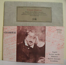 33T 25cm CONCERT CHABRIER Disque Orchestre As. COLONNE L. FOURESTIER PATHE 25121
