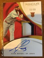 Alex Reyes•/99 On-Card Auto/Patch RC• 2017 Panini Immaculate Autograph Relic