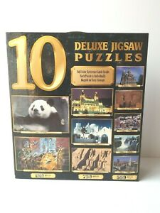 10 Deluxe Jigsaw Puzzles 6750 Pieces Wildlife Scenery Architecture Landmarks NEW