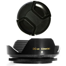58mm Lens Hood Wide Petal Shape and Lens Cap for Sony Handycam VX2100,VX2000E,US