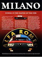 "1987 Alfa Romeo Milano photo ""The Heart of a Beast"" promo print ad"