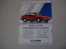 advertising Pubblicità 1992 HYUNDAI S-COUPE' SCOUPE'