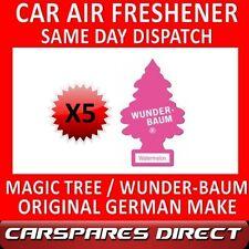 MAGIC TREE CAR AIR FRESHENER x 5 WATER MELON ORIGINAL & BEST WUNDER-BAUM NEW