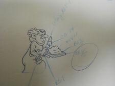 THE SMURFS Animation Production Art Drawing Cel Gargamel 27 G-15 Pencil