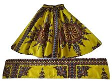 Indian Cotton Tribal Skirt and Head Wrap