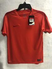 Nike Boys Dri-Fit Authentic Orange Soccer Jersey Size L NWT