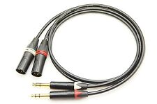 White//Red Stereo Pair Canare Balanced XLR Audio Interconnect Cables 0.9m