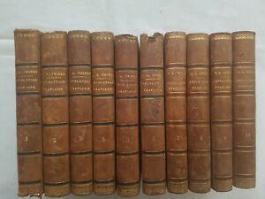 Histoire de la révolution Française 10 vols série complète THIERS, 1845  Furne